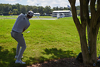 Dustin Johnson (USA) chips up on to 8 during round 1 of the 2019 Tour Championship, East Lake Golf Course, Atlanta, Georgia, USA. 8/22/2019.<br /> Picture Ken Murray / Golffile.ie<br /> <br /> All photo usage must carry mandatory copyright credit (© Golffile | Ken Murray)