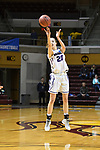 GRAND RAPIDS, MI - MARCH 18: Hannah Hackley (20) of Amherst College attempts a three-point shot during the Division III Women's Basketball Championship held at Van Noord Arena on March 18, 2017 in Grand Rapids, Michigan. Amherst defeated 52-29 for the national title. (Photo by Brady Kenniston/NCAA Photos via Getty Images)