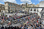 The peleton in action during Stage 4 a 202km very hilly stage running from Catania to Caltagirone, Sicily, Italy. 8th May 2018.<br /> Picture: LaPresse/Fabio Ferrari | Cyclefile<br /> <br /> <br /> All photos usage must carry mandatory copyright credit (&copy; Cyclefile | LaPresse/Fabio Ferrari)