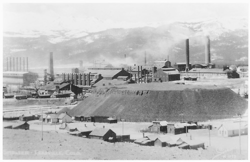 &quot;Smelter - Leadville, Colo.&quot;  View of unidentified Leadville smelter.<br /> Leadville, CO  Taken by Sanborn, Harold