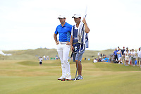 Rory McIlroy (NIR) on the 16th during Round 3 of the Dubai Duty Free Irish Open at Ballyliffin Golf Club, Donegal on Saturday 7th July 2018.<br /> Picture:  Thos Caffrey / Golffile