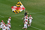 30 MAY 2016: Players for the University of Maryland run onto the field for ethic game against  the University of North Carolina during the Division I Men's Lacrosse Championship held at Lincoln Financial Field in Philadelphia, PA. Larry French/NCAA Photos