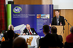 Pix: Shaun Flannery/shaunflanneryphotography.com...COPYRIGHT PICTURE>>SHAUN FLANNERY>01302-570814>>07778315553>>..13th March 2013.Food Storage & Distribution Federation - Technical and Safety Seminar..Doncaster RFC, Castle Park..Mark Helsby, SKM Enviros..The FSDF Climate Change Agreement.
