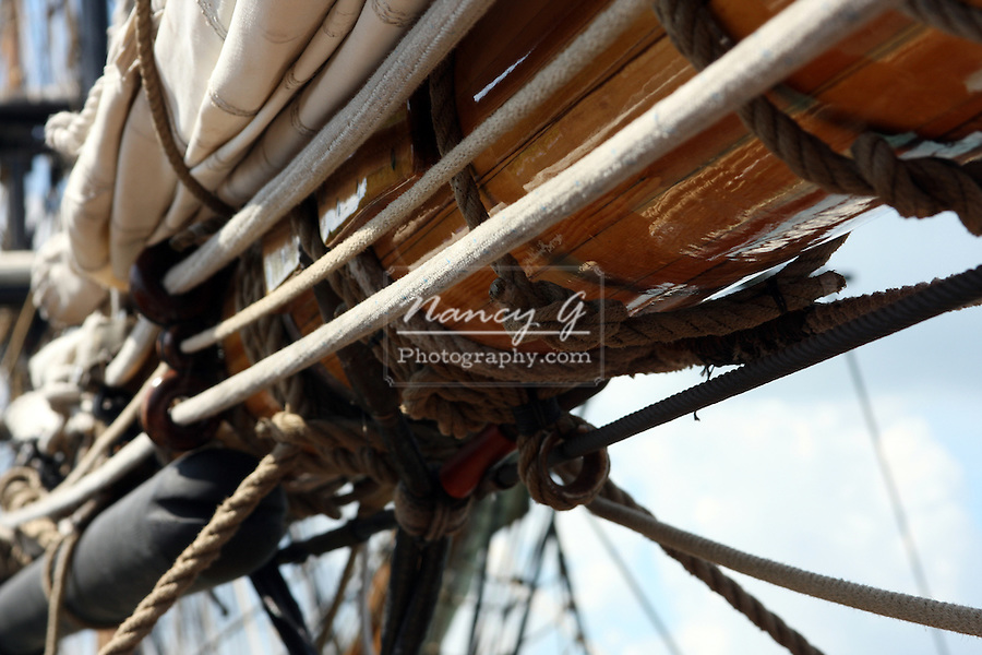 The sails and rigging on the Pride of the Baltimore Ship
