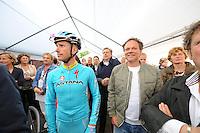 WIELRENNEN: SURHUISTERVEEN: Profronde, Lieuwe Westra, Henk de Jong (ex trainer SC Cambuur), ©foto Martin de Jong