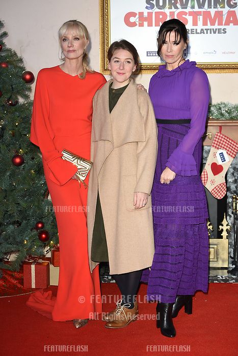 "LONDON, UK. November 21, 2018: Joely Richardson, Gemma Whelan & Ronni Ancona at the ""Surviving Christmas with the Relatives"" premiere at the Vue Leicester Square, London.<br /> Picture: Steve Vas/Featureflash"