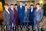 Padraic Linnane, Daragh Masterson, Aaron Malick, Oisin Spillane, Kestutis Kaletka, Liam White and Cathal Fitzgibbon attending the Mercy Mounthawk Debs in the Ballyroe Heights Hotel on Friday.