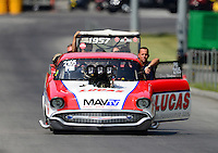 Jun. 15, 2012; Bristol, TN, USA: NHRA pro mod driver Doug Winters during qualifying for the Thunder Valley Nationals at Bristol Dragway. Mandatory Credit: Mark J. Rebilas-