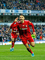 8th February 2020; Ewood Park, Blackburn, Lancashire, England; English Football League Championship Football, Aleksandar Mitrovic of Fulham celebrates his goal after 65 minutes which gave his side a 1-0 win