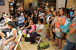 Guest wait for the M.D. Anderson Back to School Fashion show at the Galleria Saturday Aug. 06,2016.(Dave Rossman Photo)