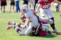 STANFORD, CA - MARCH 7, 2014--Stanford's Pat McFadden, during Open Football Practices at Stanford University.
