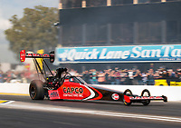 Feb 23, 2020; Chandler, Arizona, USA; NHRA top fuel driver Steve Torrence during the Arizona Nationals at Wild Horse Pass Motorsports Park. Mandatory Credit: Mark J. Rebilas-USA TODAY Sports