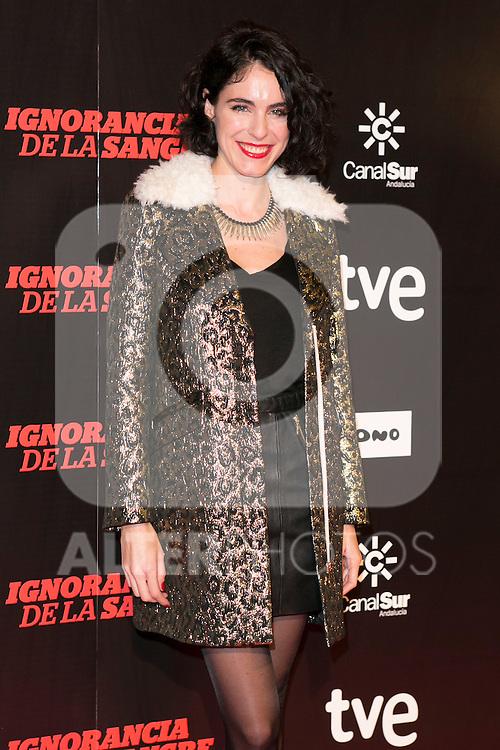 """May Allen attends """"La Ignorancia de la Sangre"""" Premiere at Capitol Cinema in Madrid, Spain. November 13, 2014. (ALTERPHOTOS/Carlos Dafonte)"""