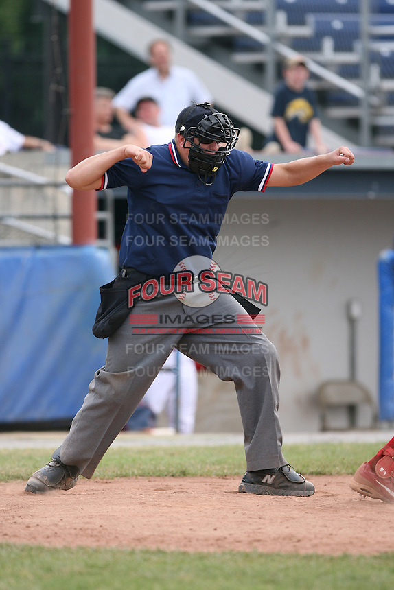 2007 MiLB Umpire Tyler Wilson during the New York-Penn League season.  Photo by Mike Janes/Four Seam Images