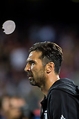 12th September 2017, Camp Nou, Barcelona, Spain; UEFA Champions League Group stage, FC Barcelona versus Juventus; Gianluigi Buffon of Juventus goes onto the pitch
