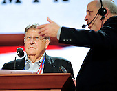 Former White House Chief of Staff John Sununu participates in a microphone check at the podium of the 2012 Republican National Convention prior to the start of proceedings in Tampa Bay, Florida on Monday, August 27, 2012.   Sununu serves as the Chairman of the Committee on Rules..Credit: Ron Sachs / CNP.(RESTRICTION: NO New York or New Jersey Newspapers or newspapers within a 75 mile radius of New York City)