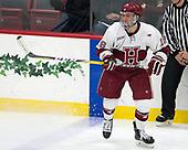 Adam Fox (Harvard - 18) - The visiting Colgate University Raiders shut out the Harvard University Crimson for a 2-0 win on Saturday, January 27, 2018, at Bright-Landry Hockey Center in Boston, Massachusetts.