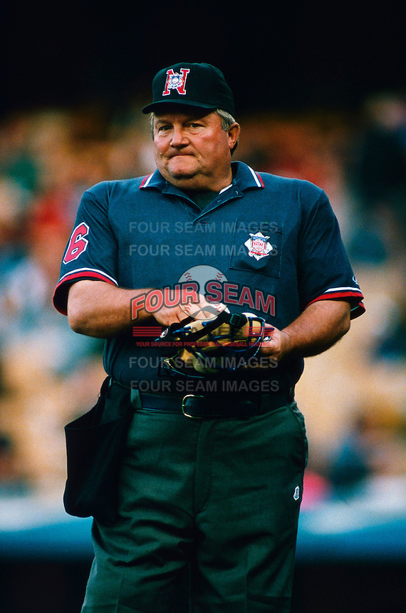 Umpire Bruce Froeming participates in a Major League Baseball game at Dodger Stadium during the 1998 season in Los Angeles, California. (Larry Goren/Four Seam Images)