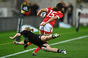 9th June 2017, Westpac Stadium, Wellington, New Zealand; International Womens Rugby; New Zealand versus Canada;  Canada's Julianne Zussman runs out of a tackle by New Zealands Kendra Cocksedge