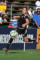 19 July 2009: Erika of the FC Gold Pride controls the ball near the touch-line during the game at Buck Shaw Stadium in Santa Clara, California.  The Boston Breakers defeated the FC Gold Pride, 1-0.