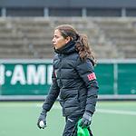 AMSTELVEEN - assistent-coach Cecilia Rognoni (Adam)   voor de hoofdklasse hockeywedstrijd dames,  Amsterdam-Den Bosch (1-1).   COPYRIGHT KOEN SUYK