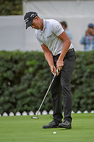 Henrik Stenson (SWE) sinks his putt on 16 during round 2 of the World Golf Championships, Mexico, Club De Golf Chapultepec, Mexico City, Mexico. 2/22/2019.<br /> Picture: Golffile | Ken Murray<br /> <br /> <br /> All photo usage must carry mandatory copyright credit (&copy; Golffile | Ken Murray)