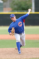 Cam Greathouse of the Chicago Cubs plays in a minor league spring training game against the Los Angeles Angels at the Angels complex on April 2, 2011  in Tempe, Arizona. .Photo by:  Bill Mitchell/Four Seam Images.