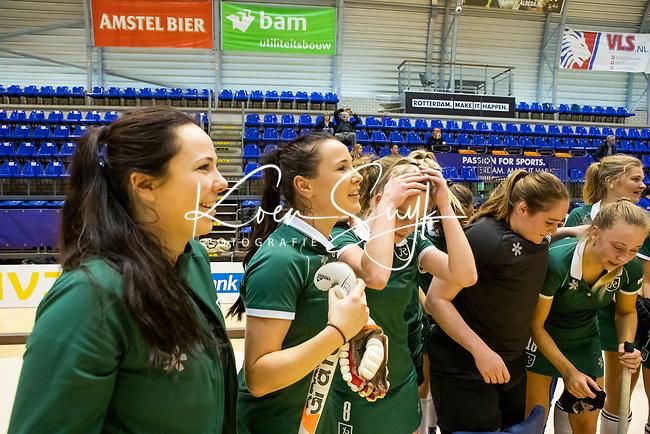 ROTTERDAM  - NK Nacompetitie Zaalhockey . Rotterdam-MOP dames. R'dam promoveert.  Lisa van Baaren   COPYRIGHT KOEN SUYK