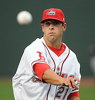 April 3, 2008: RHP Chris Province (21) of the Greenville Drive, Class A affiliate of the Boston Red Sox, during the season opener against the Kannapolis Intimidators at Fluor Field at the West End in Greenville, S.C. Photo by:  Tom Priddy/Four Seam Images