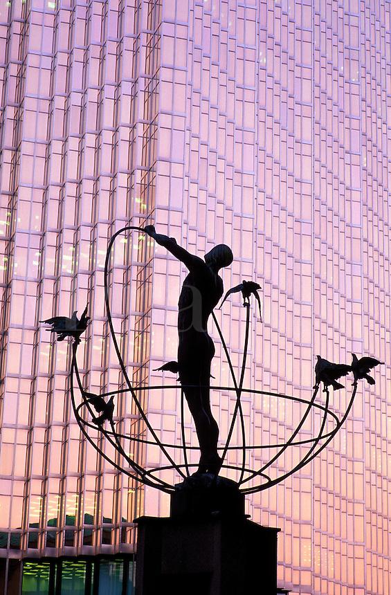 Canada,Ontario,Toronto. Statue outside of Union Station