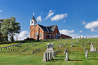 Cemetery and Bergstrasse Evangelical  Lutheran Church, Ephrata, Pennsylvania, USA