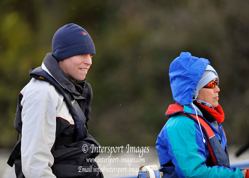 London GREAT BRITAIN,  IC Coach, Steve TRAPMORE,  watches the Wingfields raced over  the Championship Course,   Putney to Chiswick, River Thames, [Photo, Peter Spurrier/Intersport-images] .. Rowing Course: River Thames, Championship course, Putney to Mortlake 4.25 Miles,