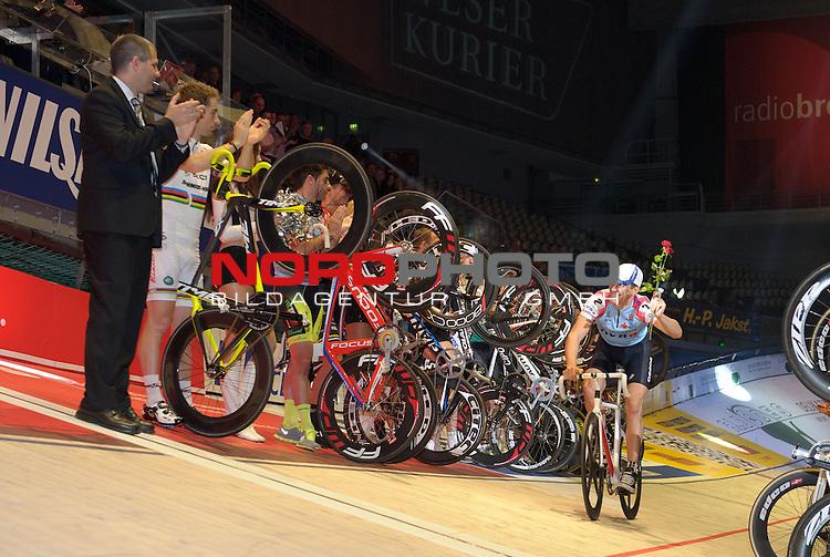 13.01.2014, &Ouml;VB Arena, Bremen, GER, Sixdays Bremen, im Bild Franco Marvulli wird verabschiedet<br /> <br /> Foto &copy; nordphoto / Frisch