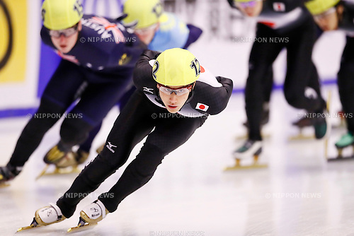 Kazuki Yoshinaga (JPN), <br /> FEBRUARY 20, 2017 -Short Track : <br /> Men's 1500m Small-final <br /> during the 2017 Sapporo Asian Winter Games <br /> at Makomanai Indoor Skating Rink in Hokkaido, Japan. <br /> (Photo by Yohei Osada/AFLO SPORT)