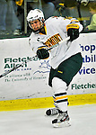 10 February 2012: University of Vermont Catamount forward Mike Montagna, a Freshman from Fulton, NY, in action against the Boston College Eagles at Gutterson Fieldhouse in Burlington, Vermont. The Eagles defeated the Catamounts 6-1 in their Hockey East matchup. Mandatory Credit: Ed Wolfstein Photo