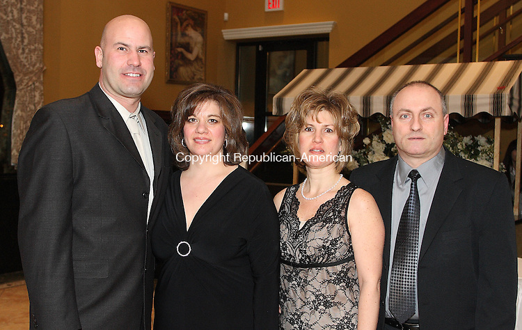 Waternury, CT-26 January 2008-012608MK30   (From Left) Domenic and Cynthia Rinaldi and Vicky and Rocco Cipriano gathered at the Ponte Club to celebrate the appointment of the new officers. Michael Kabelka Republican-American(From Left) Domenic and Cynthia Rinaldi and Vicky and Rocco Cipriano )CQ