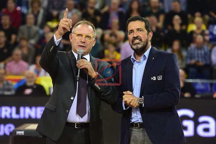 Turkish Airlines Euroleague 2016/2017.<br /> Regular Season - Round 2.<br /> FC Barcelona Lassa vs Fenerbahce Istanbul: 72-73.<br /> Toni Bove &amp; Jordi Robirosa.