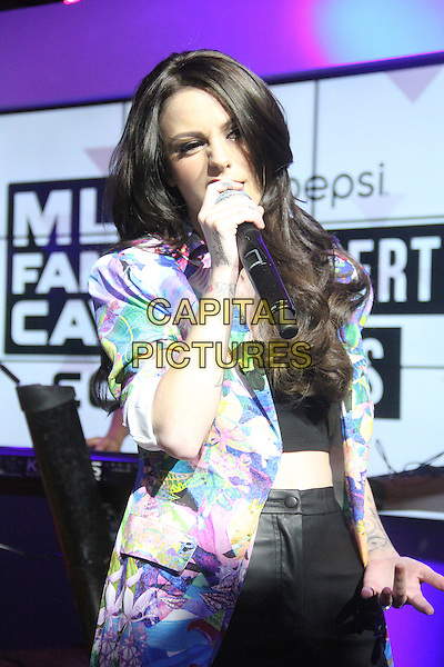 NEW YORK, NY - MAY 29: Cher Lloyd performs at the MLB Fan Cave as part of the MLBFanCave.com Pepsi Concert Series in New York City on May 29, 2014.  <br /> CAP/MPI/RW<br /> &copy;RW/ MediaPunch/Capital Pictures