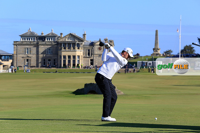 Bernd Wiesberger (AUT) during the third round of the Dunhill Links Championship played at  Old Course, St Andrews. 08/10/2016<br /> Picture: Golffile | Phil Inglis<br /> <br /> <br /> All photo usage must carry mandatory copyright credit (&copy; Golffile | Phil Inglis)