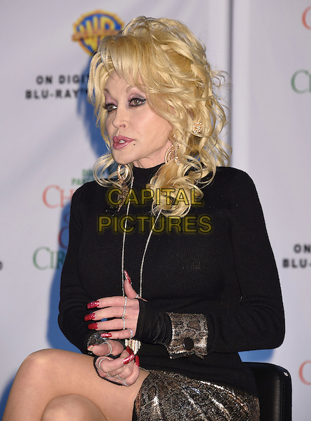 03 November 2016 - Nashville, Tennessee - Dolly Parton. Dolly Parton and Jennifer Nettles &quot;Christmas of Many Colors: Circle of Love&quot; Press Conference held at Citation Support Facility. <br /> CAP/ADM/LF<br /> &copy;LF/ADM/Capital Pictures