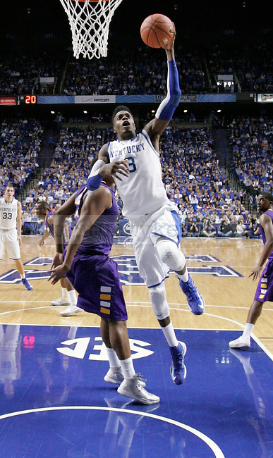 UK forward Nerlens Noel jumps to shoot the ball during the UK men's basketball vs. Lipscomb University at Rupp Arena in Lexington, Ky., on Saturday, December 15, 2012. Photo by Tessa Lighty | Staff