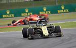 12.07.2019, Silverstone Circuit, Silverstone, FORMULA 1 ROLEX BRITISH GRAND PRIX 2019<br /> , im Bild<br />Daniel Ricciardo (AUS#3), Renault F1 Team, Sebastian Vettel (GER#5), Scuderia Ferrari Mission Winnow<br /> <br /> Foto © nordphoto / Bratic