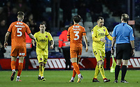 Players from both teams shake hands at the end of the match<br /> <br /> Photographer Andrew Kearns/CameraSport<br /> <br /> The EFL Sky Bet League One - Luton Town v Fleetwood Town - Saturday 8th December 2018 - Kenilworth Road - Luton<br /> <br /> World Copyright &copy; 2018 CameraSport. All rights reserved. 43 Linden Ave. Countesthorpe. Leicester. England. LE8 5PG - Tel: +44 (0) 116 277 4147 - admin@camerasport.com - www.camerasport.com
