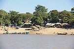 Boats For Rent Along The Ayeyarwady River