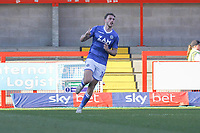 Harry Smith of Macclesfield Town celebrates his goal in the first during Crawley Town vs Macclesfield Town, Sky Bet EFL League 2 Football at Broadfield Stadium on 23rd February 2019