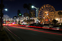 West Shoreline Drive and Aquarium Way at Night