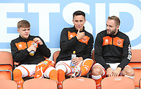 Blackpool's Finlay Sinclair-Smith and Blackpool's John O'Sullivan<br /> <br /> Photographer Rachel Holborn/CameraSport<br /> <br /> The EFL Sky Bet League One - Blackpool v Bradford City - Saturday September 8th 2018 - Bloomfield Road - Blackpool<br /> <br /> World Copyright &copy; 2018 CameraSport. All rights reserved. 43 Linden Ave. Countesthorpe. Leicester. England. LE8 5PG - Tel: +44 (0) 116 277 4147 - admin@camerasport.com - www.camerasport.com