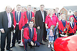 Packie Bonner with members of the Brass Band and Frank Godfrey at the Prawn Parade in Clogherhead....Photo NEWSFILE/Jenny Matthews.(Photo credit should read Jenny Matthews/NEWSFILE)....This Picture has been sent you under the condtions enclosed by:.Newsfile Ltd..The Studio,.Millmount Abbey,.Drogheda,.Co Meath..Ireland..Tel: +353(0)41-9871240.Fax: +353(0)41-9871260.GSM: +353(0)86-2500958.email: pictures@newsfile.ie.www.newsfile.ie.FTP: 193.120.102.198.
