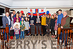 Richard Foran and Timothy Lyne centre at their retirement party from the Valentia RNLI on Saturday night in the Royal Hotel Valentia pictured here with their families.
