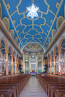 The beautiful interior of St. Michael's Church, one of the churches in the Parish of the Resurrection, in Jersey City, New Jersey